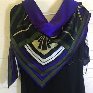 Adrienne Vittadini Art Deco Silk Scarf